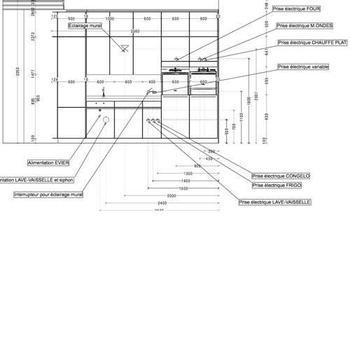 mobilier cuisine plans architecte intérieur