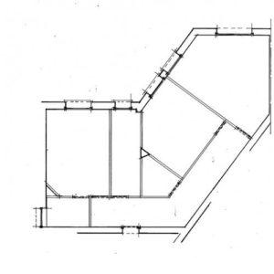 plan d'état avec croquis architecte intérieur