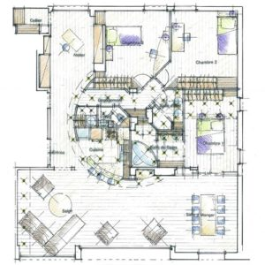 plan généraux de l'appartement architecte intérieur