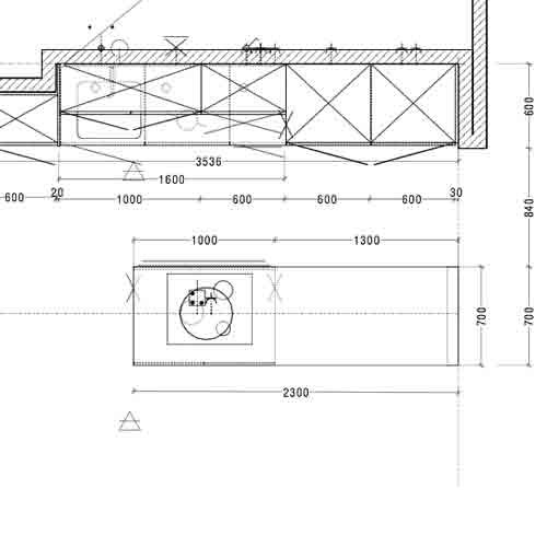 plan technique cuisine architecte intérieur