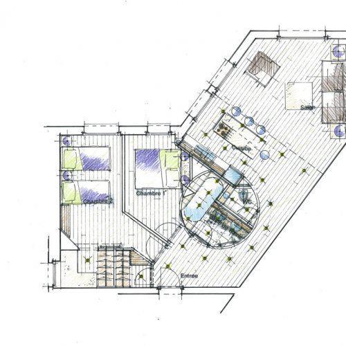 plan projetés architecte intérieur