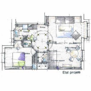 plan appartement parisien architecte intérieur