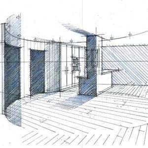 perspective plan architecte intérieur