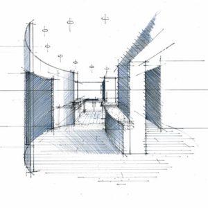 croquis perspective architecte intérieur