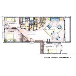 perspective appartement architecte intérieur