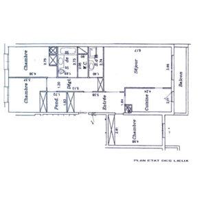 Appartement levallois état des lieux sous forme d'un croquis/perspective